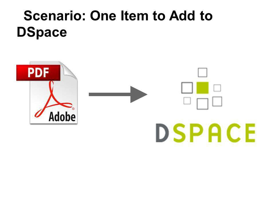 Scenario: One Item to Add to DSpace