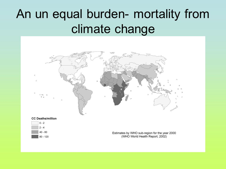 An un equal burden- mortality from climate change