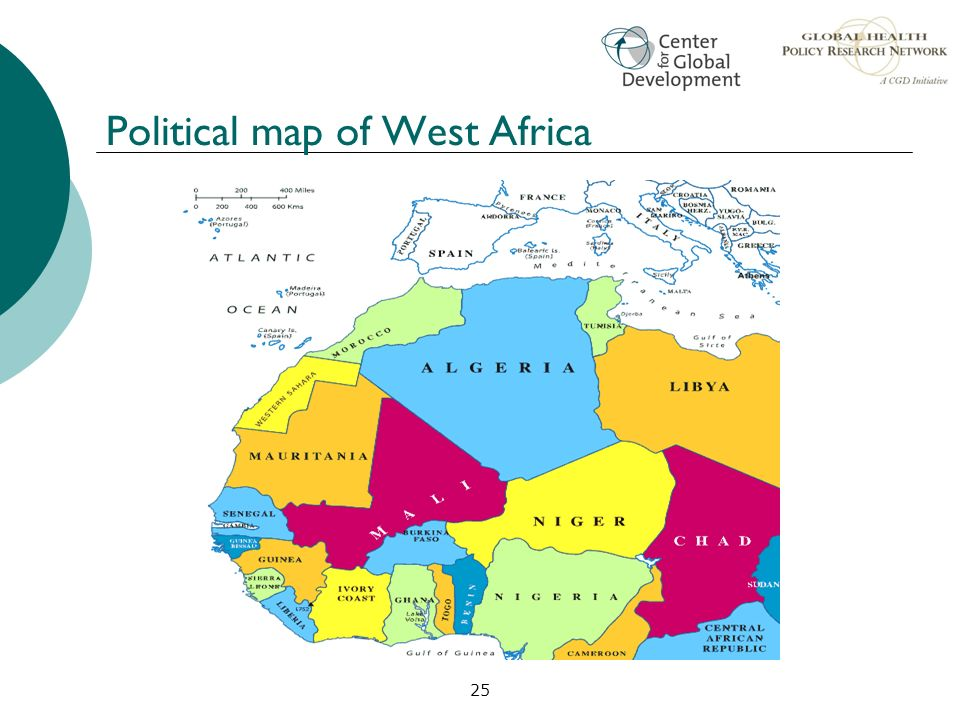 25 Political map of West Africa