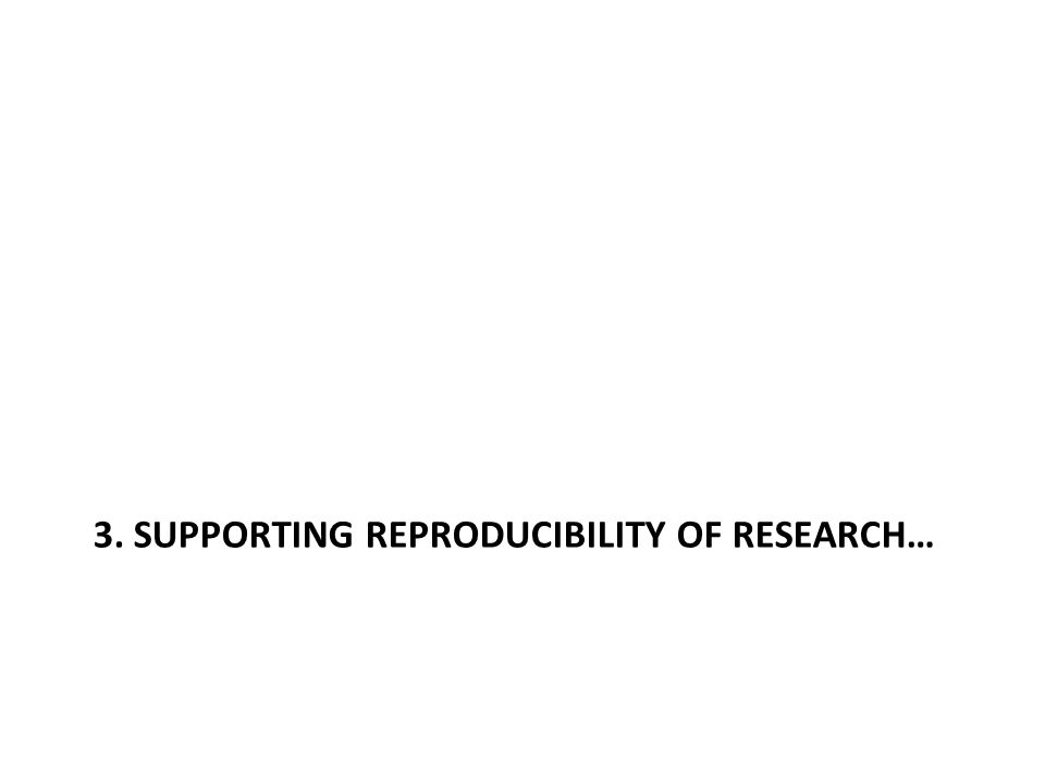3. SUPPORTING REPRODUCIBILITY OF RESEARCH…
