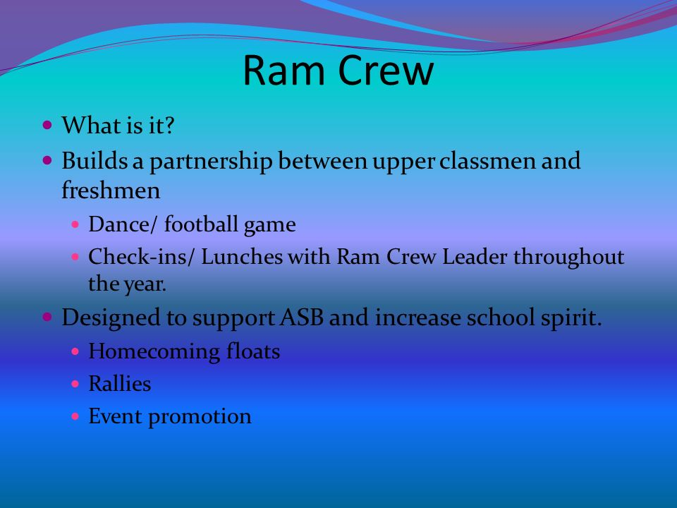 Ram Crew What is it.