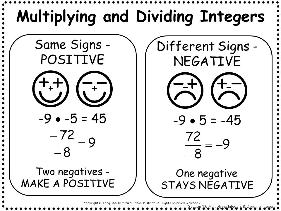 Multiplying And Dividing Integers 7th Grade Lessons Tes Teach – Integers Worksheet Grade 7