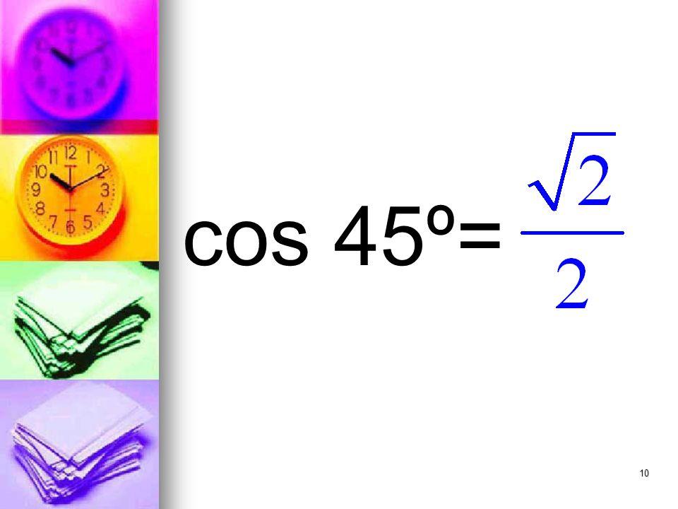 10 cos 45º=
