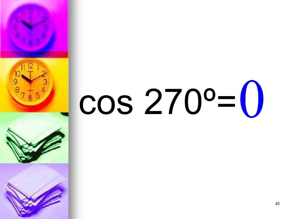 40 cos 270º=