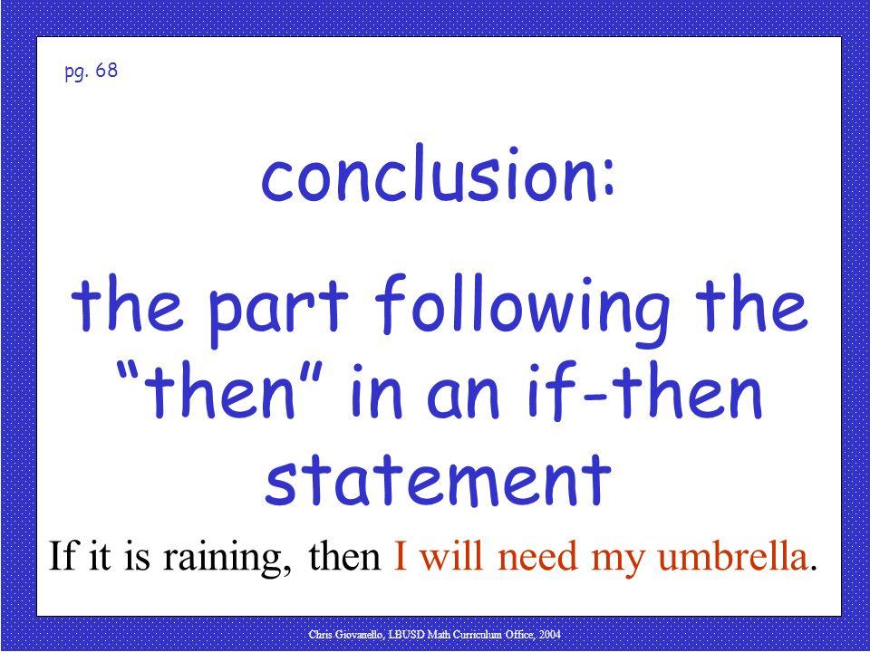 Chris Giovanello, LBUSD Math Curriculum Office, 2004 conclusion
