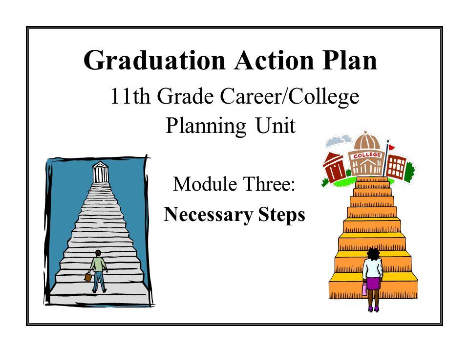 Graduation Action Plan 11th Grade Career/College Planning Unit Module Three: Necessary Steps