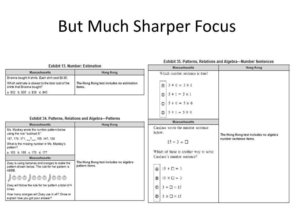 But Much Sharper Focus