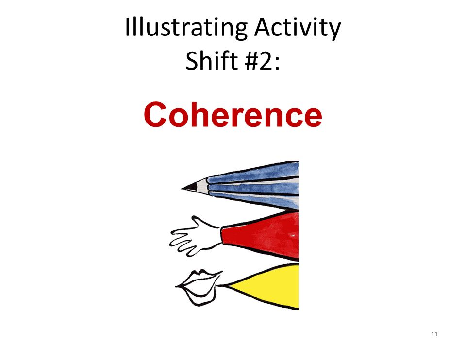 Illustrating Activity Shift #2: Coherence 11
