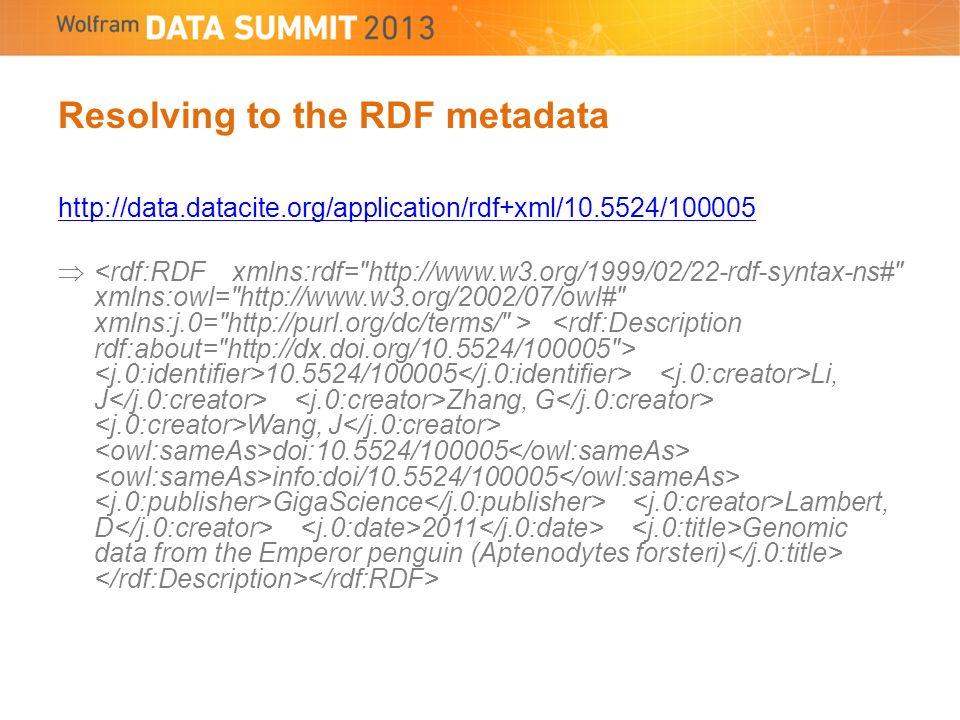 Resolving to the RDF metadata http://data.datacite.org/application/rdf+xml/10.5524/100005 10.5524/100005 Li, J Zhang, G Wang, J doi:10.5524/100005 info:doi/10.5524/100005 GigaScience Lambert, D 2011 Genomic data from the Emperor penguin (Aptenodytes forsteri)