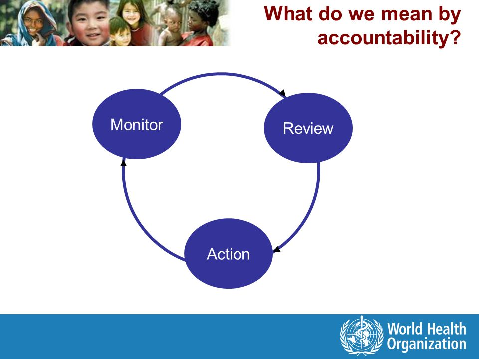 What do we mean by accountability Monitor Action Review