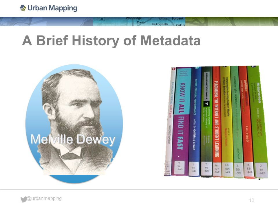 10 @urbanmapping A Brief History of Metadata Melville Dewey