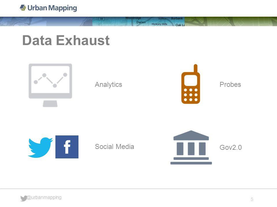 5 @urbanmapping Data Exhaust Analytics Probes Social Media Gov2.0