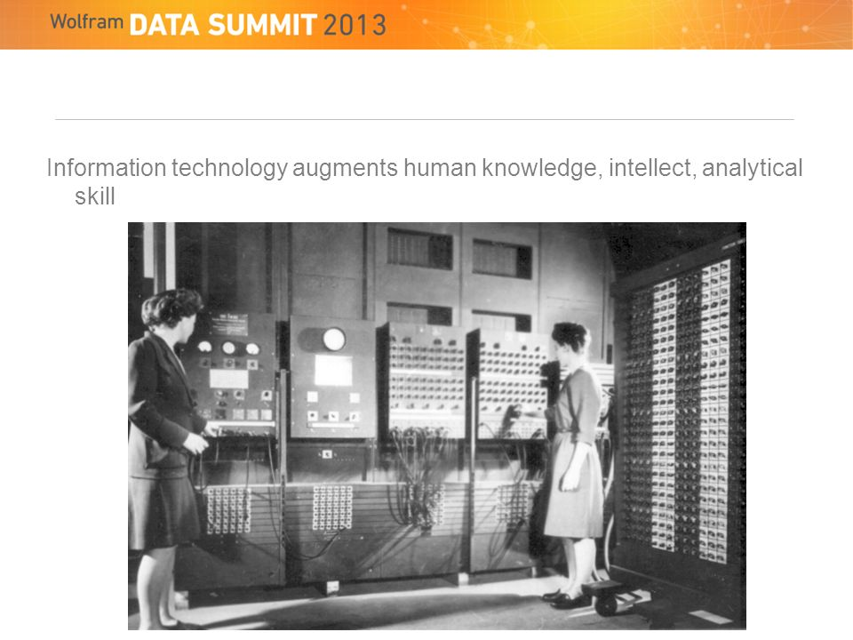 Information technology augments human knowledge, intellect, analytical skill