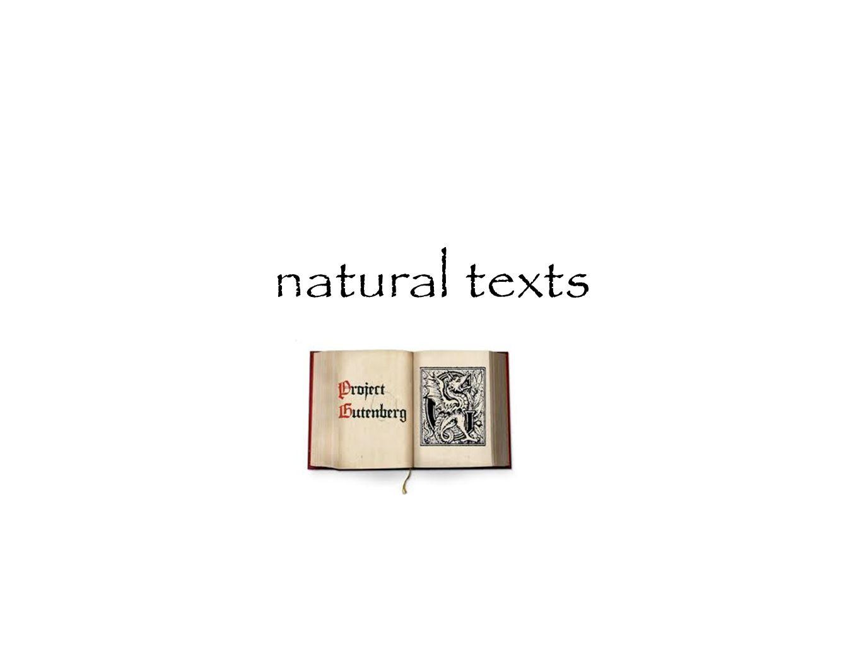 natural texts