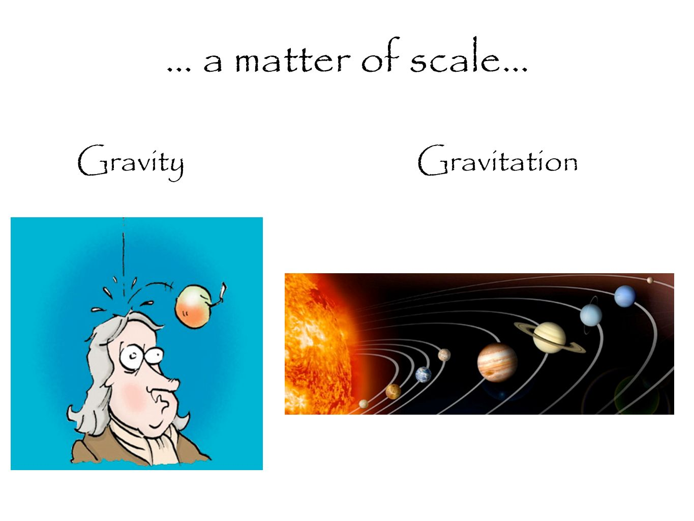 GravityGravitation... a matter of scale...
