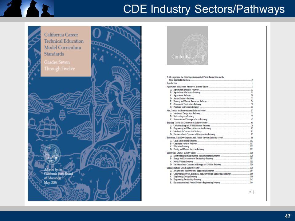 47 CDE Industry Sectors/Pathways