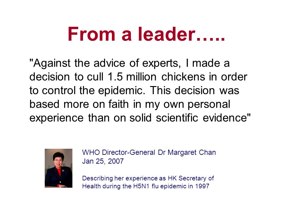 From a leader…..