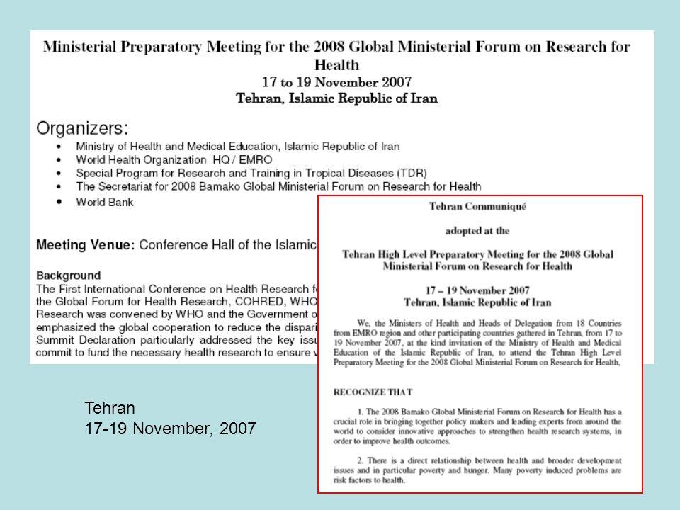 Tehran 17-19 November, 2007