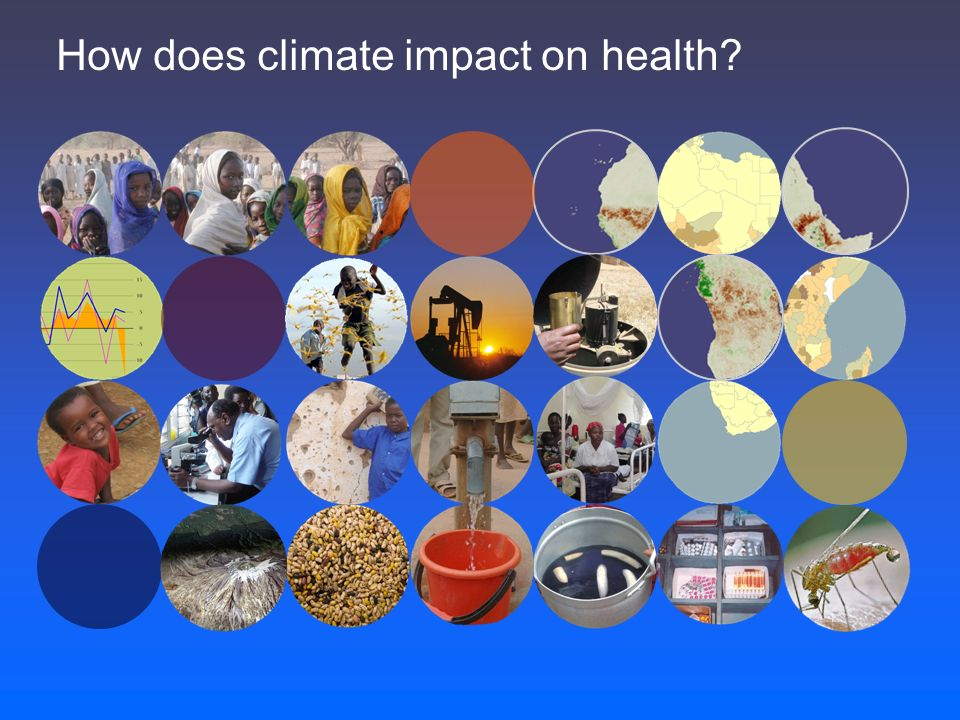How does climate impact on health?