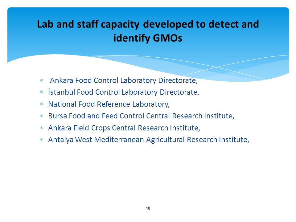 Ankara Food Control Laboratory Directorate, İstanbul Food Control Laboratory Directorate, National Food Reference Laboratory, Bursa Food and Feed Cont