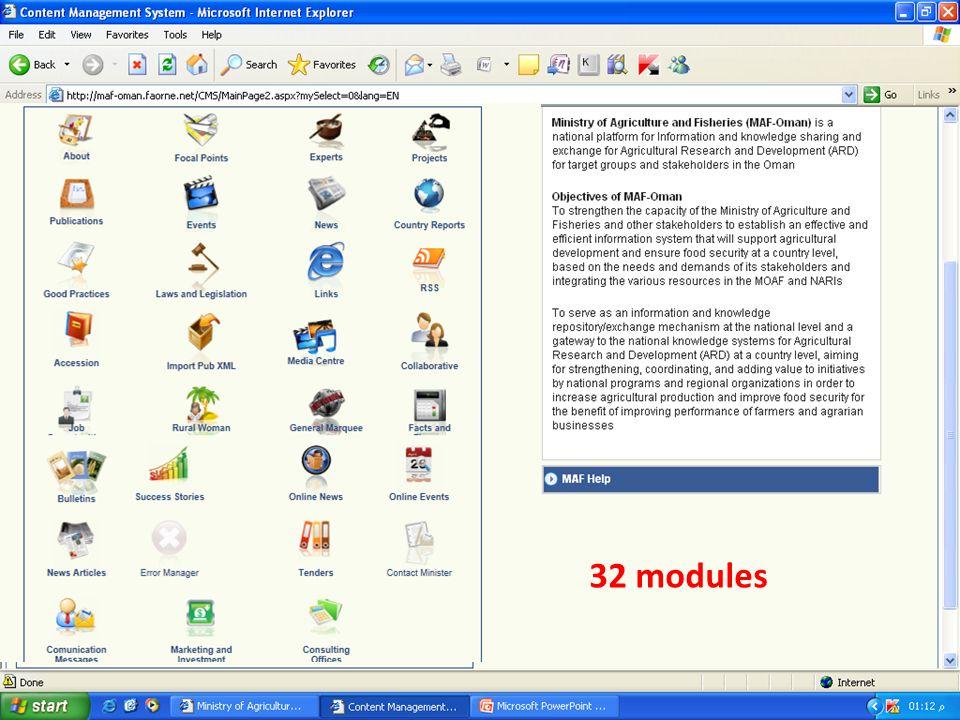 32 modules