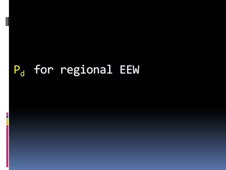 for regional EEW P d for regional EEW