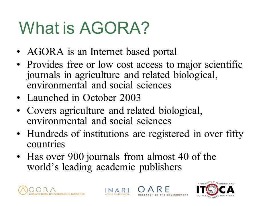 What is AGORA.