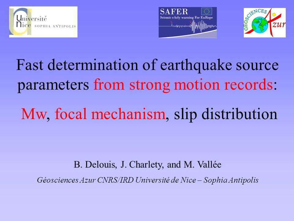 N Example 1: 1999 Chi-Chi earthquake Mw 7.6 100 km