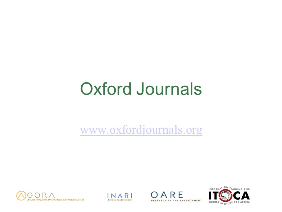 Oxford Journals www.oxfordjournals.org