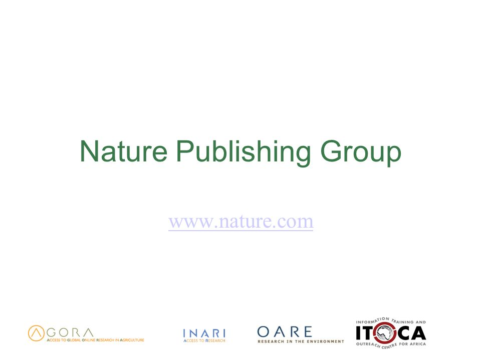 Nature Publishing Group www.nature.com