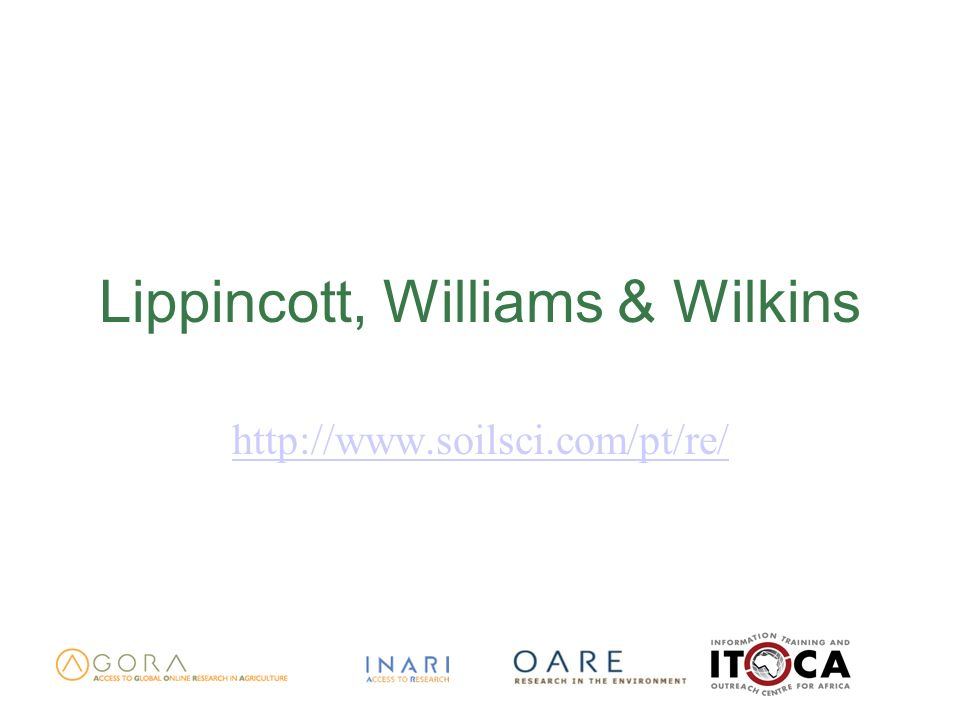 Lippincott, Williams & Wilkins http://www.soilsci.com/pt/re/