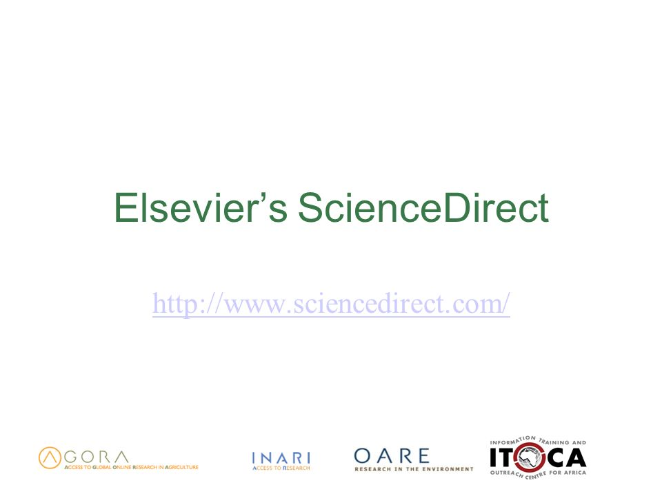 Elseviers ScienceDirect http://www.sciencedirect.com/