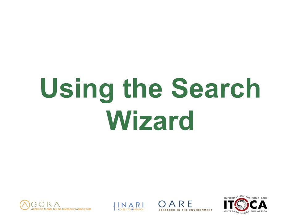 Using the Search Wizard