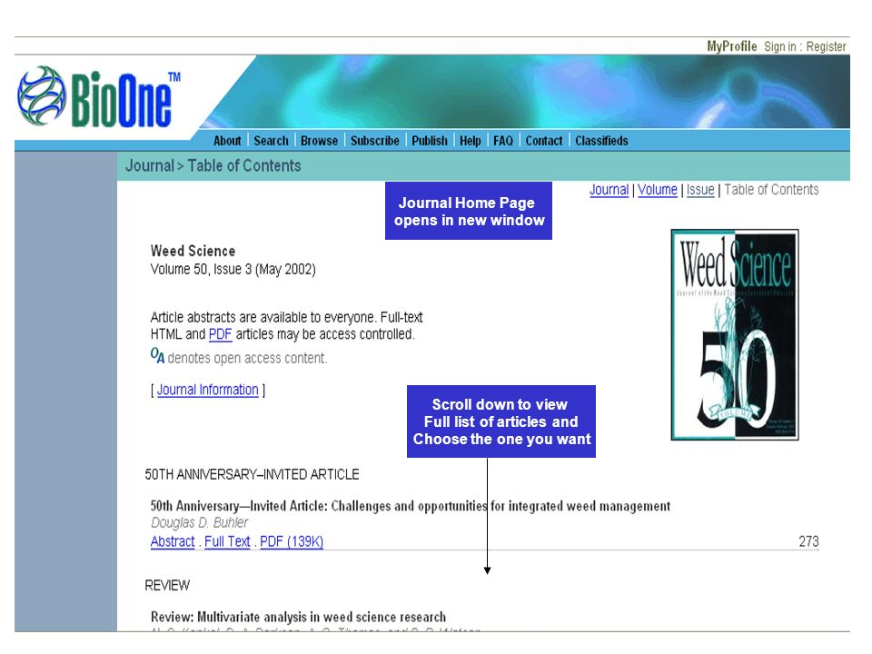 Journal Home Page opens in new window Scroll down to view Full list of articles and Choose the one you want