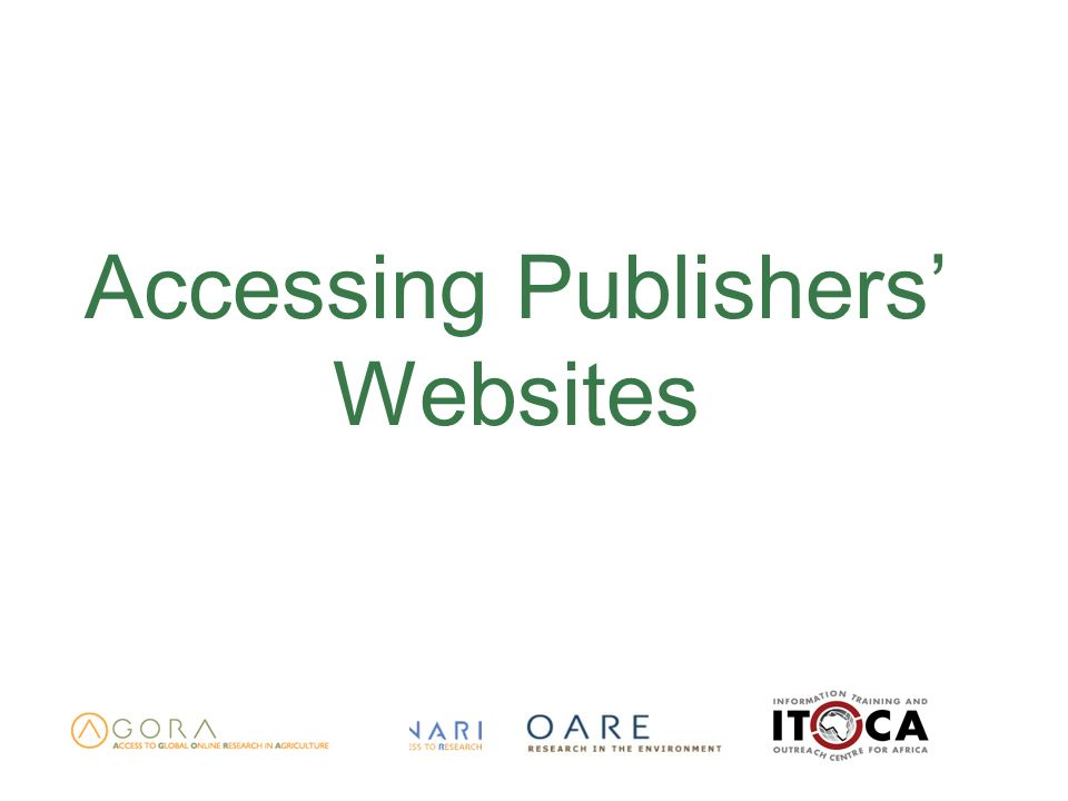 Accessing Publishers Websites