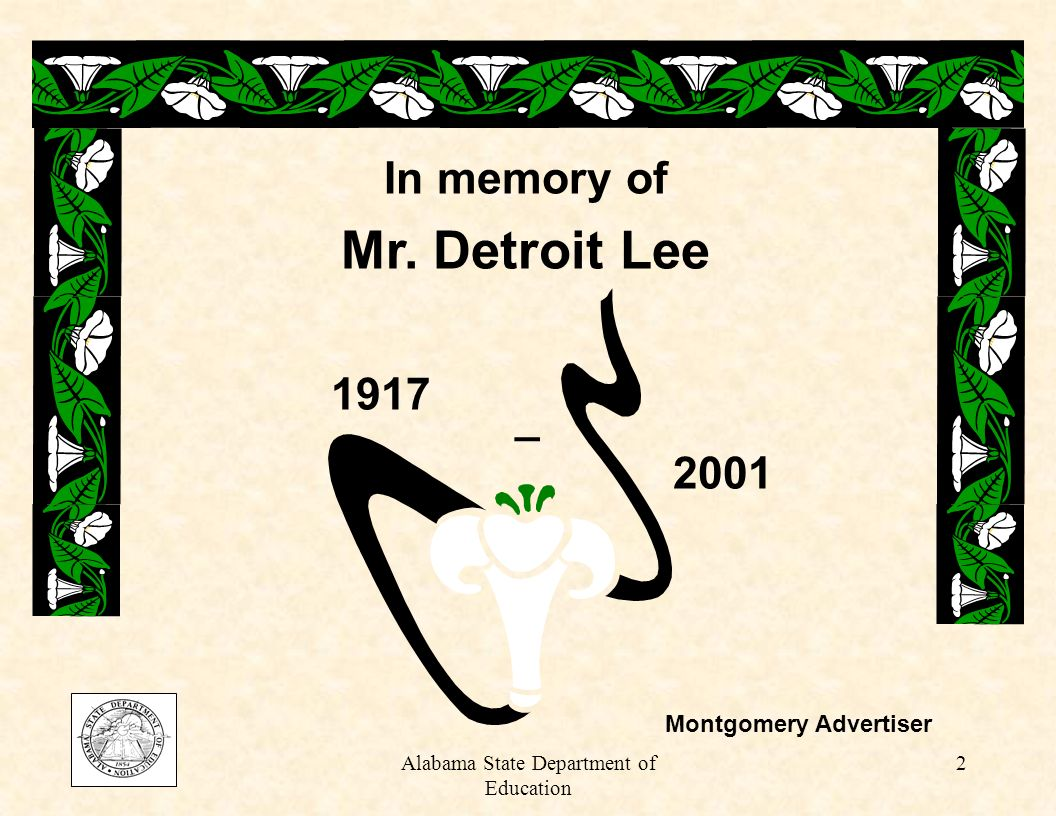 2 In memory of Mr. Detroit Lee 1917 2001 _ Montgomery Advertiser