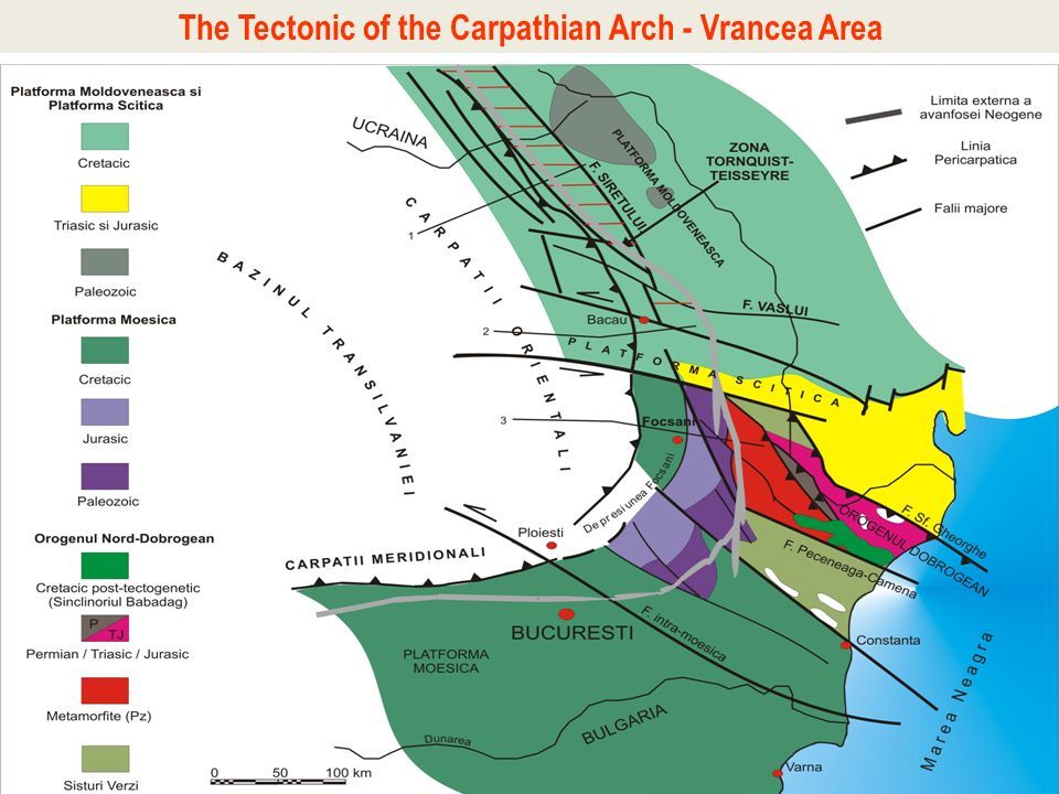 The Tectonic of the Carpathian Arch - Vrancea Area