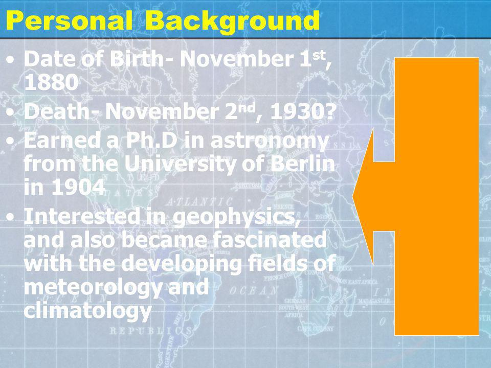 Personal Background Date of Birth- November 1 st, 1880 Death- November 2 nd, 1930? Earned a Ph.D in astronomy from the University of Berlin in 1904 In