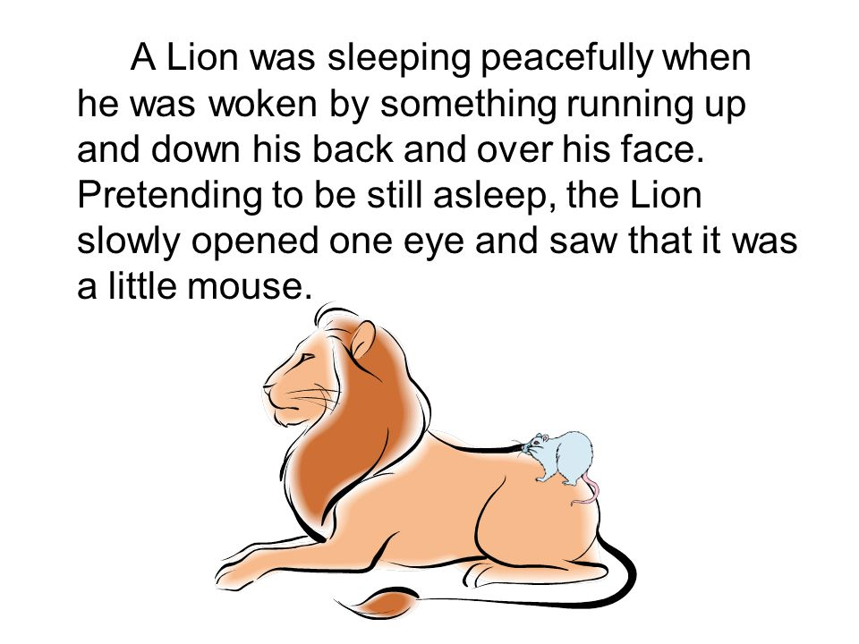 The Lion and the Mouse PowerPoint Slide Created by Shirley Garrett
