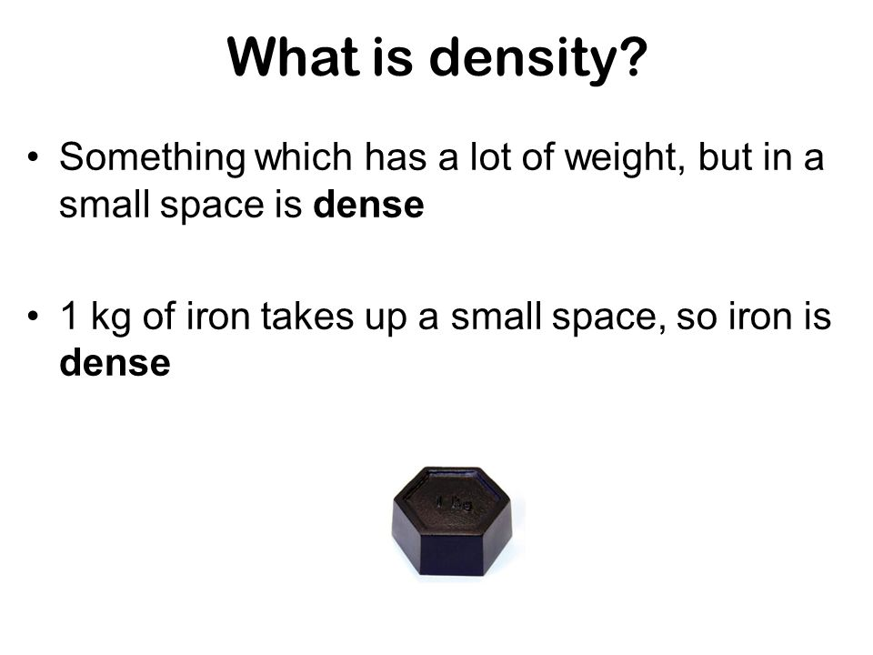 Its not just size or weight that determines whether something floats or sinks: its a combination of the two It is the amount of stuff within a certain