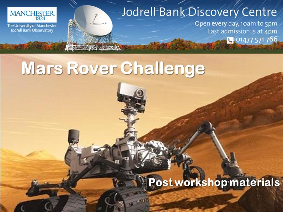 Mars Rover Challenge Post workshop materials