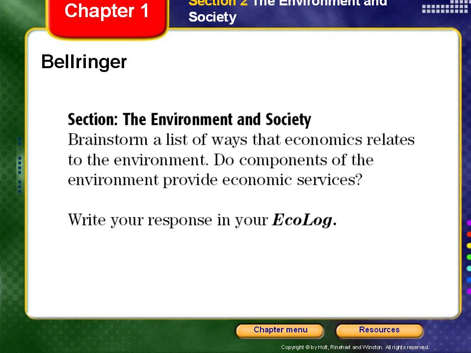 Understanding Populations The Environment and Society