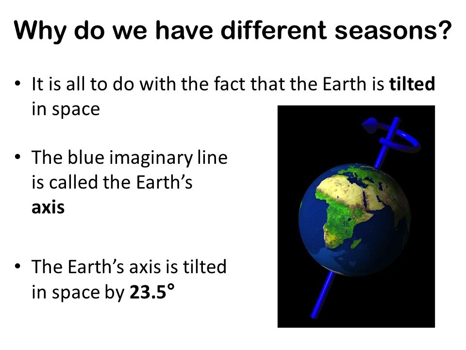 Experiment: The Seasons! Why do we have different seasons?