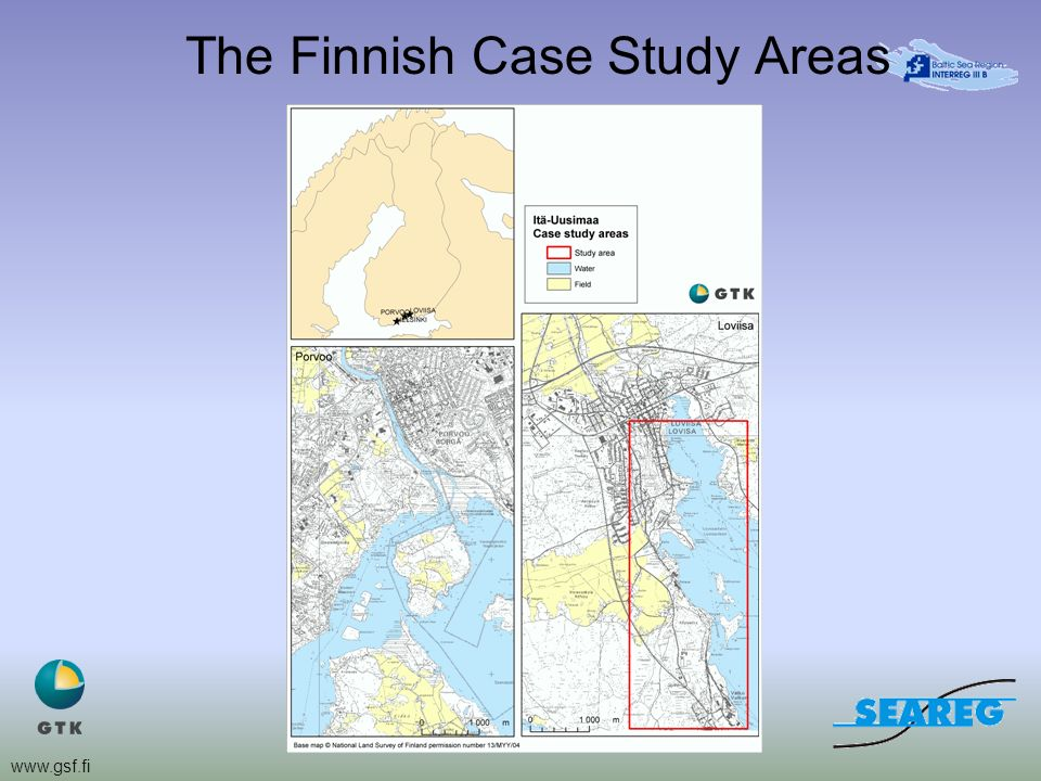 www.gsf.fi The Finnish Case Study Areas