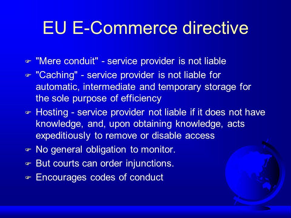 EU E-Commerce directive