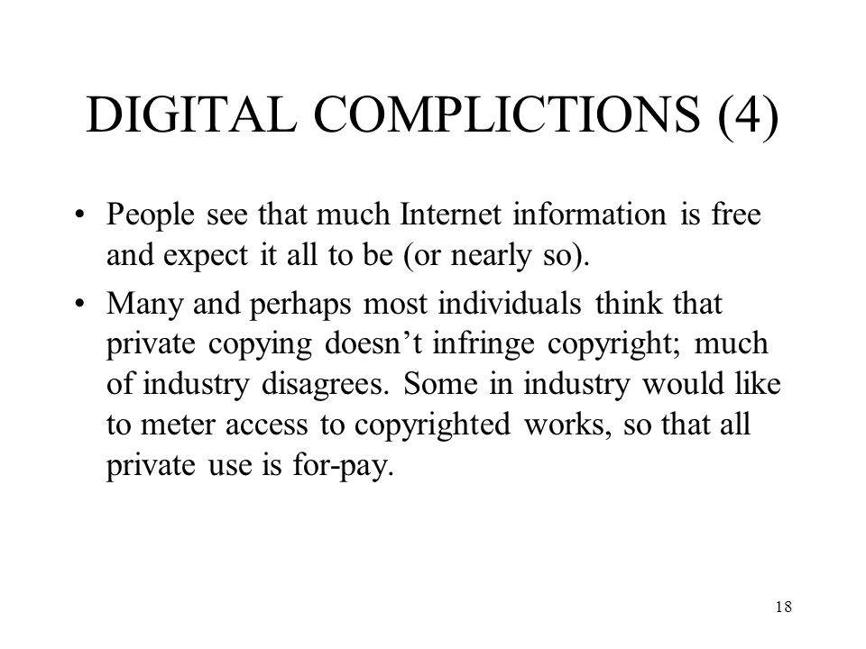 19 DIGITAL COPYRIGHT CONTROVERSIES Linking, framing iCraveTV case Cyberpatrol case - extracting list of sites RIAA v.
