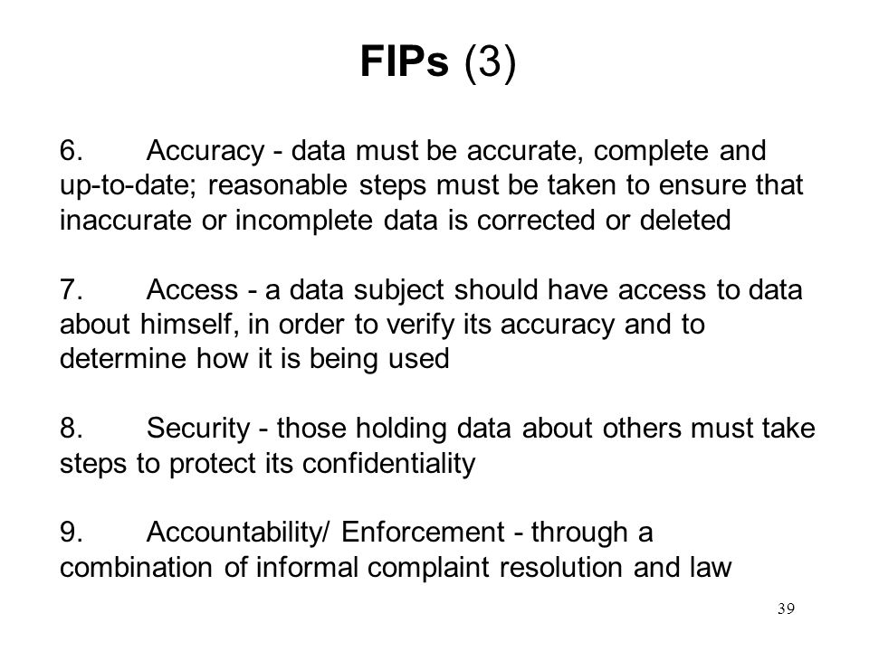 40 The Three Components of Effective Privacy Protection Privacy by design Self-regulation/consumer education Law