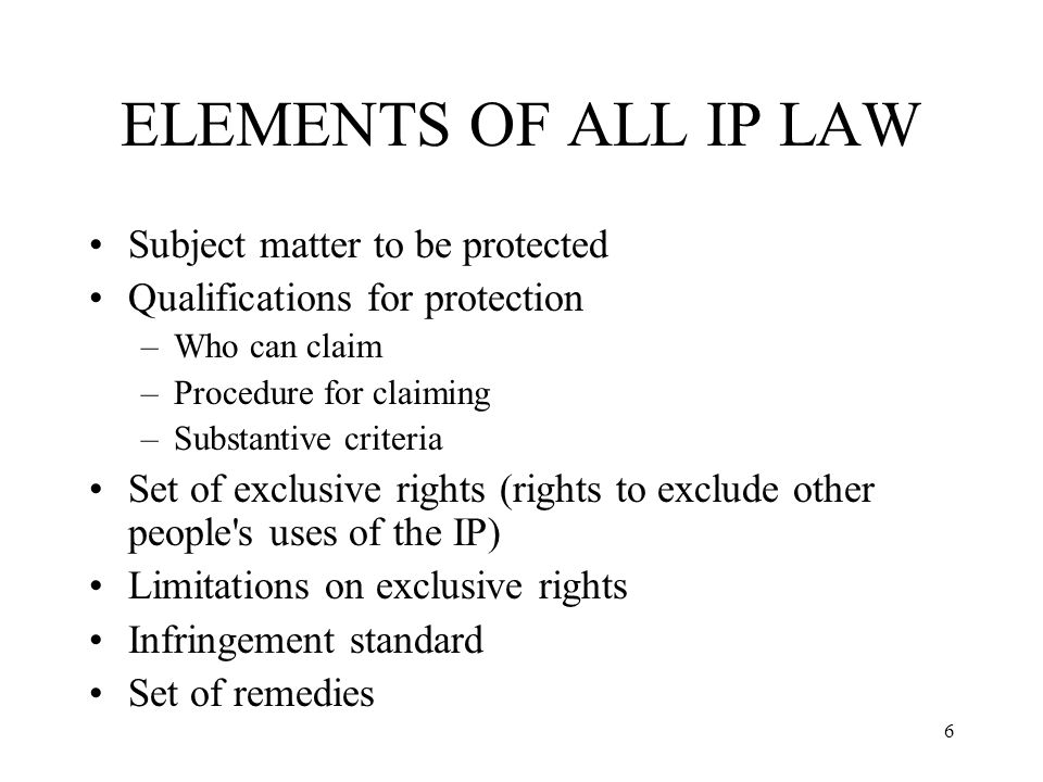 7 ELEMENTS OF COPYRIGHT Subject matter: works of authorship –E.g., literary works, musical works, pictorial works.
