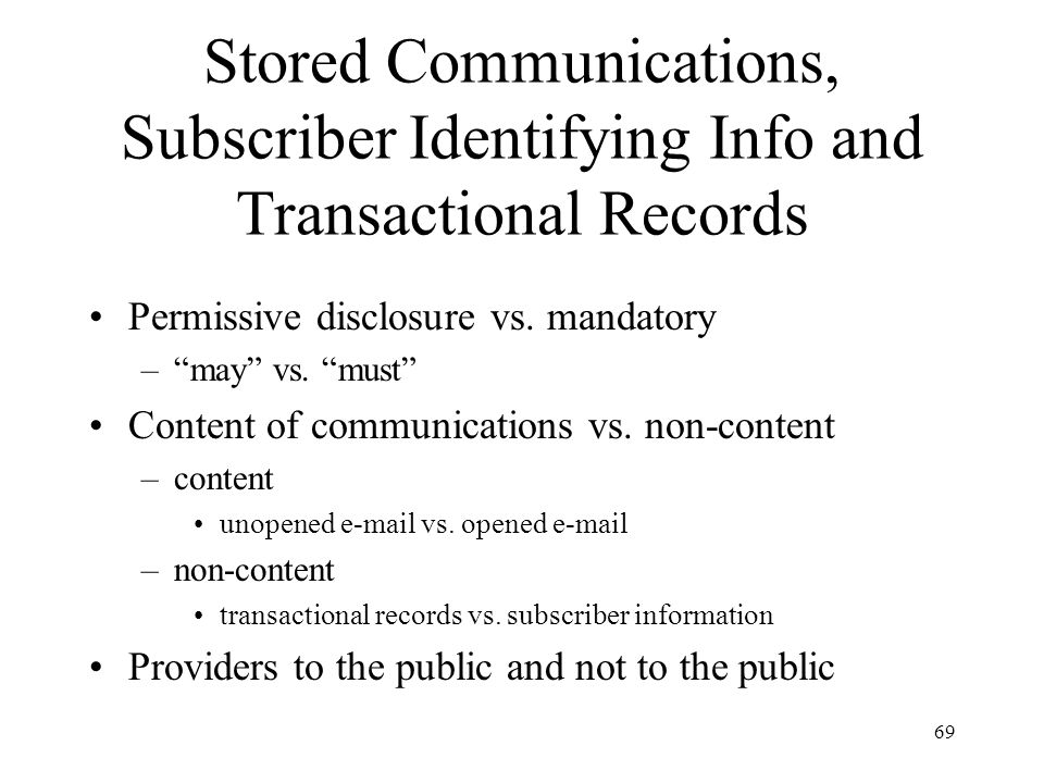 70 Penalties for Stored Records & Communications Violations Civil remedies [18 U.S.C.
