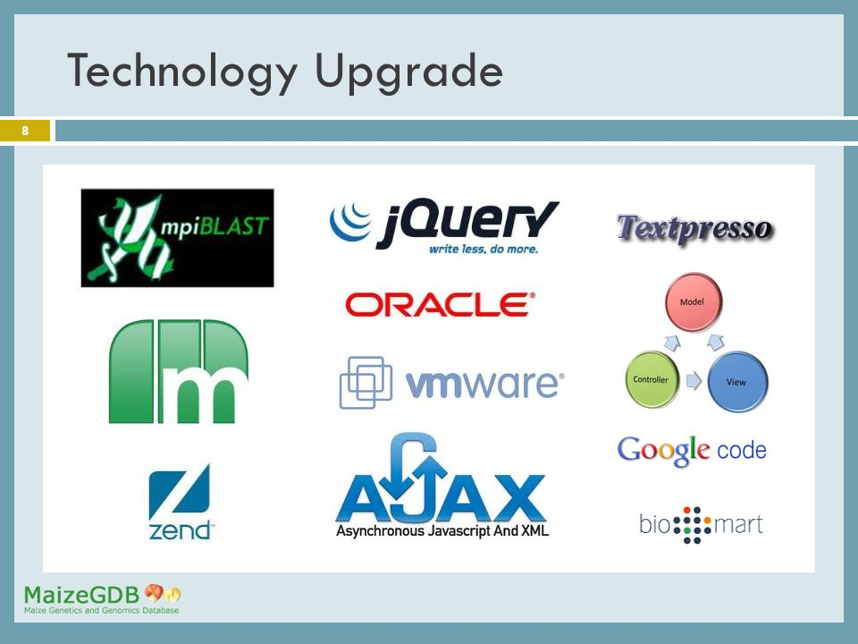 8 Technology Upgrade